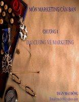 Tài liệu Bài giảng môn Marketing - chương 1 Đại cương về marketing docx