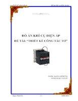 Tài liệu Đồ án - khí cụ điện hạ áp doc