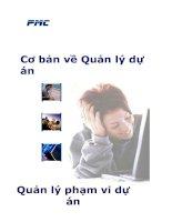 Tài liệu PMF2/9 Cơ bản về quản lý dự án - Quản lý phạm vi dự án doc