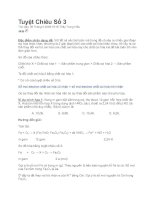 Tài liệu Phương pháp giải bài tập hóa THPT - Bí quyết số 3 ppt