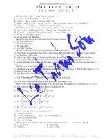 Tài liệu 127 Bài tập trắc nghiệm phần dao động điện từ pptx