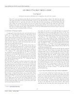Tài liệu Lò phản ứng hạt nhân CANDU doc