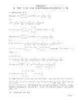 Tài liệu Chuyên đề Kỹ thuật chọn điểm rơi trong bài toán cực trị pdf