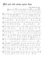 Tài liệu Bài hát gửi gió cho mây ngàn bay - Đoàn Chuẩn & Từ Linh (lời bài hát có nốt) ppt
