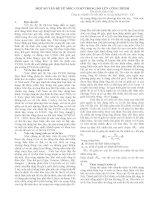 Tài liệu MỘT SỐ VẤN ĐỀ VỀ MỐC CƠ SỞ TRONG ĐO LÚN CÔNG TRÌNH pdf