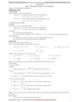 Tài liệu Chuyên đề hàm số luyện thi đại học 12 pdf