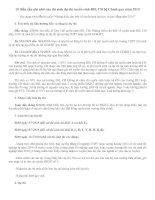 Tài liệu 10 điều cần ghi nhớ của thí sinh dự thi tuyển sinh ĐH, CĐ hệ Chính quy năm 2010 doc