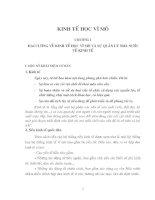 CHƯƠNG 1: ĐẠI CƯƠNG VỀ KINH TẾ HỌC VĨ MÔ VÀ SỰ QUẢN LÝ NHÀ NƯỚC VỀ KINH TẾ