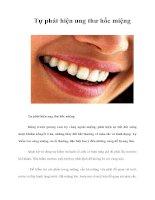 Tài liệu Tự phát hiện ung thư hốc miệng docx