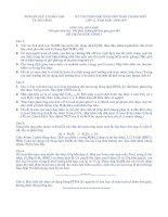 Tài liệu Đề thi học sinh giỏi hóa 12 tỉnh Thừa Thiên Huế 1996-1998 ppt
