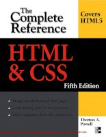 Tài liệu HTML & CSS: The Complete Reference- P1 pdf