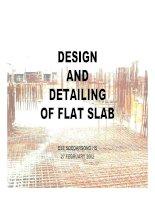 Tài liệu DESIGN AND DETAILING OF FLAT SLAB ESE SOEDARSONO HS 27 FEBRUARY 2002 pptx