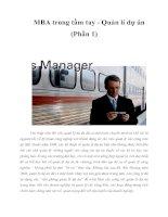 Tài liệu MBA trong tầm tay - Quản lí dự án (Phần 1) pdf