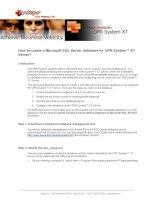 Tài liệu To create a Microsoft SQL Server database for OPN Systemô XT Server pptx