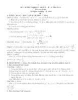 Bài giảng 2 đề thi thử Đại học môn Toán tham khảo và đáp án