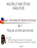 Tài liệu NGUYÊN LÝ KINH TẾ HỌC PHẦN VĨ MÔ - Chương 7 pptx