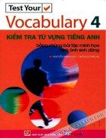 test your vocabulary 4 - kiểm tra từ vựng tiếng anh bằng những bài tập minh họa hình ảnh sinh động