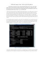 Tài liệu Kiến thức mạng cơ bản- kiểm tra kết nối (phần 6) ppt