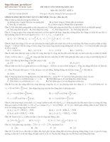 Tài liệu Luyện thi siêu cấp tốc môn Vật lý khối A số 40 năm 2010 doc