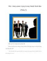 Tài liệu Bảy vùng quan trọng trong thuật lãnh đạo (Phần 5) pdf