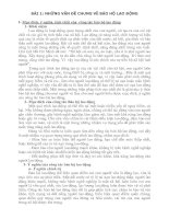 Tài liệu BÀI 1: NHỮNG VẤN ĐỀ CHUNG VỀ BẢO HỘ LAO ĐỘNG doc