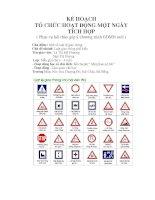 Tài liệu Kế họach tổ chức họat động ngày tích hợp - Luật lệ giao thông - Khối mầm docx