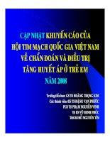 Tài liệu Khuyến cáo của Hội tim mạch quốc gia Việt Nam về Tăng Huyết Áp ở trẻ em pdf
