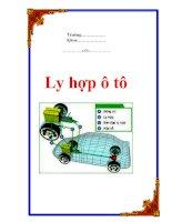 Tài liệu Ly hợp ô tô ppt