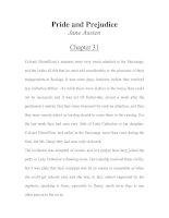 Tài liệu LUYỆN ĐỌC TIẾNG ANH QUA TÁC PHẨM VĂN HỌC-Pride and Prejudice -Jane Austen -Chapter 31 pdf