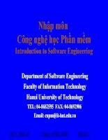 Tài liệu Nhập môn công nghệ học phần mềm - Introduction to Software Engineering - Phần II docx