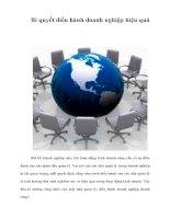 Tài liệu Bí quyết điều hành doanh nghiệp hiệu quả pdf