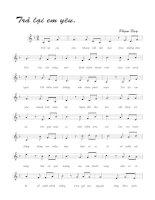 Tài liệu Bài hát trả lại em yêu - Phạm Duy (lời bài hát có nốt) pptx
