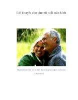 Tài liệu Lời khuyên cho phụ nữ tuổi mãn kinh pdf