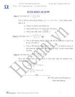 Tài liệu Các bài toán khảo sát hàm số 24.05 (Bài tập và hướng dẫn giải) pptx