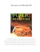 Tài liệu Bảy ngày với chiến dịch PR pdf