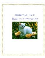 Tài liệu CHỦ ĐỀ: Thế giới động vật - ĐỀ TÀI : Con vật nuôi trong gia đình pdf