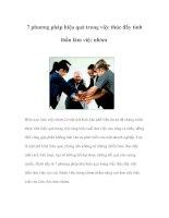 Tài liệu 7 phương pháp hiệu quả trong việc thúc đẩy tinh thần làm việc nhóm doc