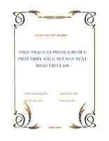 """Tài liệu Luận văn tốt nghiệp """"Thực trạng và phương hướng phát triển hàng dệt may xuất khẩu Việt Nam """" docx"""