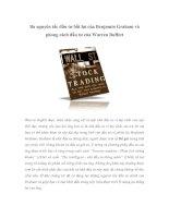 Tài liệu Ba nguyên tắc đầu tư bất hủ của Benjamin Graham và phong cách đầu tư của Warren Buffett pptx