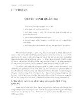 Tài liệu Chương 5: QUYẾT ĐỊNH QUẢN TRỊ docx