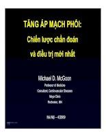 Tài liệu Tăng áp mạch phổi Mayo Clinic pptx