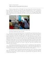 Tài liệu Thận trọng khi sử dụng thuốc hạ sốt cho trẻ ppt