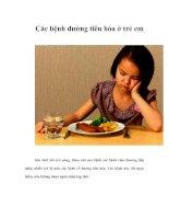 Tài liệu Các bệnh đường tiêu hóa ở trẻ em doc