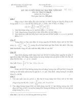Tài liệu Kỳ thi tuyển sinh sau đại học năm 2007 - Môn: Vật lý lý thuyết doc