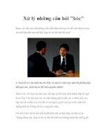 Tài liệu Xử lý những câu hỏi khó trong buổi phỏng vấn doc