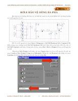 Tài liệu Giáo trình Tự động thiết kế mạch điện tử với Orcad - Bài tập 3: Rơle bảo vệ dòng ba pha docx