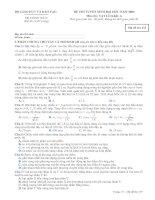 Tài liệu Đề thi ĐH môn Vật lý khối A 2009 doc
