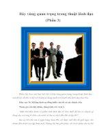 Tài liệu Bảy vùng quan trọng trong thuật lãnh đạo (Phần 3) doc
