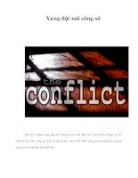Tài liệu Xung đột nơi công sở pdf