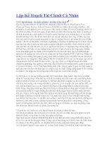 Tài liệu Lập Kế Hoạch Tài Chính Cá Nhân pdf